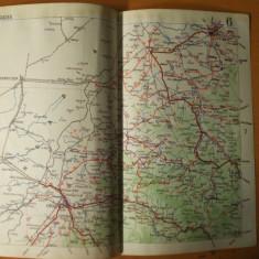 Oradea Carei Simleul Silvanei Zalau Satu Mare  harta color anii 1930