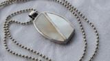 Medalion argint cu Sidef Splendid Elegant Finut de Efect vintage