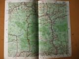 Sibiu Ramnicu Valcea Calimanesti Sebes Curtea de Arges  harta color anii 1930