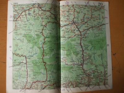 Sibiu Ramnicu Valcea Calimanesti Sebes Curtea De Arges Harta Color