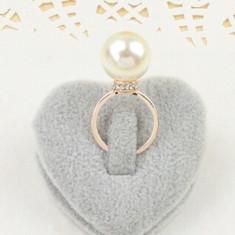 LIVRARE GRATUITA - INEL placat aur 9k filat perla - marime medie 7 - Inel placate cu aur Swarovski