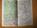 Buzau Focsani Ramnicu Sarat Tecuci Lepsa Marasesti harta color anii 1930
