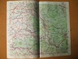 Beius Lipova Salonta Abrud Campeni Steiu  harta color anii 1930