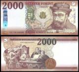 UNGARIA BANCNOTA 2000 FORINT 2016 2017 EDITIE NOUA NECIRCULATA