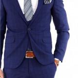Costum tip ZARA - sacou + vesta + pantaloni costum barbati casual office - 7935, Marime: 44, 46, 48, 50, Culoare: Din imagine
