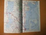 Constanta Harsova Medgidia Babadag Cernavoda Fetesti harta color anii 1930