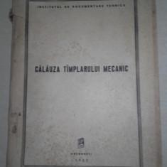 CALAUZA TAMPLARULUI MECANIC, 1955 - Carte amenajari interioare