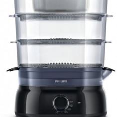 Aparat de gatit cu aburi Philips HD9126/00, 900W, 9l, negru - Aparat Gatit Aburi