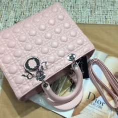 Genti Christian Dior Lady Dior Collection Big Size - Geanta Dama Christian Dior, Culoare: Din imagine, Marime: Mare, Geanta de umar, Piele
