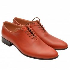 Pantofi barbati piele naturala maro deschis casual-eleganti cod P68MD - LUX, Marime: 37, 38, 39, 40, 41, 42, 43, 44, Culoare: Din imagine