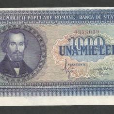 ROMANIA 1000 1.000 LEI 1950 UNC [01] Eroare de Taiere, necirculata - Bancnota romaneasca