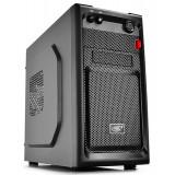 CARCASA DeepCool fara sursa Smarter mATX Mini-Tower, front audio & 1x USB 3.0, 1x USB 2.0, black SMARTER
