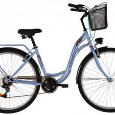 Bicicleta DHS Citadinne 2834 (2017) Albastru, 450mmPB Cod:21728344530 - Bicicleta de oras DHS, 11 inch, Otel