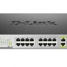 PoE (Power Over Ethernet) Switch unmanaged 16-port-uri PoE 10/100, 2 1000Base-T/SFP Combo Ports, D-Link