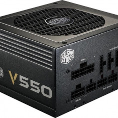 SURSA Cooler Master 550W (real), V550 v2, fan 120mm, 80 Plus Gold, 2x PCI-E (6+2), 6x S-ATA, semi-modulara
