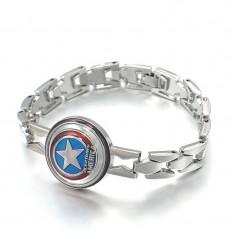 Bratara  The Avengers Captain America din aliaj, Unisex
