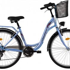 Bicicleta DHS Citadinne 2634 (2017) Albastru, 480mmPB Cod:21726344830 - Bicicleta de oras DHS, 12 inch, Otel