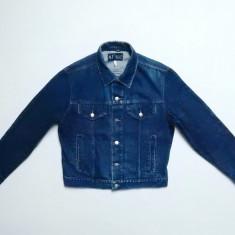 Geaca AJ Armani Jeans Made in Italy Indigo 002; marime 52, vezi dim.; ca noua - Geaca barbati, Culoare: Din imagine