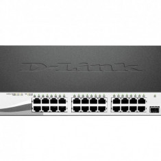 PoE (Power Over Ethernet) Switch Smart 28-port-uri PoE Gigabit + 4 SFP Ports, D-Link