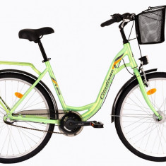 Bicicleta DHS Citadinne 2636 (2017) Verde, 430mmPB Cod:21726364380 - Bicicleta de oras DHS, 11 inch, Otel