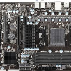 MB ASRock skt. AM3+, AMD 970, 4*DDR3 2100(OC), 1333, 2*PCIe 2.0, 1*PCIe1, 2*PCI, 6*SATA3 (RAID), 2*USB3.0, Gigabit LAN, 7.1CH, ATX - Placa de Baza