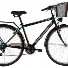 Bicicleta DHS Citadinne 2833 (2017) Negru, 520mmPB Cod:21728335260 - Bicicleta de oras DHS, 13 inch, Otel