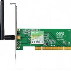 Placa Retea wireless PCI 150Mbps, Atheros chipset, 1T1R, 2.4GHz, antena detasabila - Placa de retea Tp-link