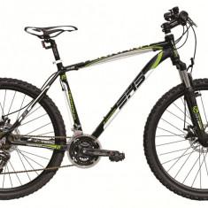 Bicicleta DHS Terrana 2625 (2017) Negru-Verde, 457mmPB Cod:21726254568 - Mountain Bike DHS, 18 inch