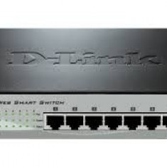 PoE (Power Over Ethernet) Switch Smart 8-port-uri PoE 10/100, D-Link