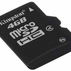 MicroSDHC 4GB (Class 4) + adaptor SD KINGSTON