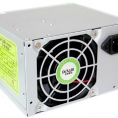 SURSA Delux 450W, Fan 8cm, Conector 20+4 pini, 2xSATA, 2xMolex, Switch ON/OFF