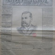 Ziarul Universul , nr. 55 , 1897 , Cazzavillan , moartea lui Alexandru  Lahovary