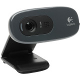 CAMERA WEB Logitech 1280x720 pixels, Quickcam C270, 1.3MP Sensor, 960-000636