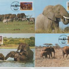 Uganda 1983 - elefanti, serie maxima