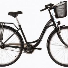 Bicicleta DHS Citadinne 2838 (2017) Negru, 430mmPB Cod:21728384360 - Bicicleta de oras DHS, 11 inch, Otel