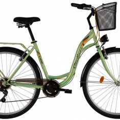 Bicicleta DHS Citadinne 2834 (2017) Verde, 430mmPB Cod:21728344380 - Bicicleta de oras DHS, 11 inch, Otel