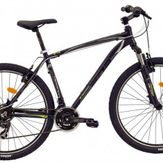 Bicicleta DHS Terrana 2723 (2017) Negru-Gri, 457mmPB Cod:21727234567 - Mountain Bike DHS, 18 inch