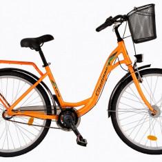 Bicicleta DHS Citadinne 2636 (2017) Portocaliu, 480mmPB Cod:21726364840 - Bicicleta de oras DHS, 12 inch, Otel