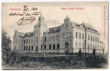 Timisoara Temesvar carte postala circulata in 1904,Gizella Arvahaz,Orfelinatul, Printata