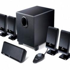 BOXE 5.1, RMS: 26W (3W*4 + 4W + 10W); black; telecomanda pe fir; iesire casti; raport semnal-zgomot: ≥85dBA; reglaj bass pe subwoofer - Boxe PC Edifier