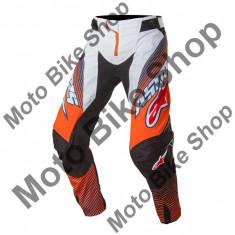MBS ALPINESTARS RENNHOSE TECHSTAR FACTORY, orange fluo-dark blue-white, 36, 17/025, Cod Produs: 372101747336AU - Imbracaminte moto Alpinestars, Pantaloni