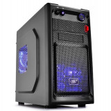CARCASA DeepCool fara sursa Smarter LED mATX Mini-Tower, 2* 120mm LED fan (incluse), front audio & 1x USB 3.0, 1x USB 2.0, black SMARTER LED