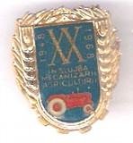 (D) INSIGNA  XX ANI IN SLUJBA MECANIZARII AGRICULTURII 1948 - 1968