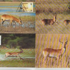 Botswana 1988 - antilop rosu, serie maxima