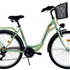 Bicicleta DHS Citadinne 2634 (2017) Verde, 430mmPB Cod:21726344380 - Bicicleta de oras DHS, 11 inch, Otel