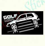 Volkswagen Golf MK4_Tuning Auto_Cod: CST-201_Dim: 25 cm. x 12.3 cm.
