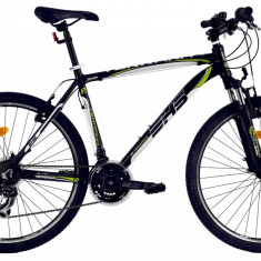 Bicicleta DHS Terrana 2623 (2017) Negru-Verde, 457mmPB Cod:21726234568 - Mountain Bike DHS, 18 inch