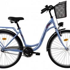 Bicicleta DHS Citadinne 2632 (2017) Albastru, 480mmPB Cod:21726324830 - Bicicleta de oras DHS, 12 inch, Otel