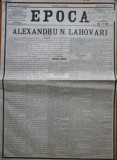 Epoca , ziar al Partidului Conservator , 6 Martie , 1897 , Alexandru Lahovary