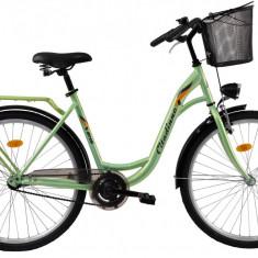 Bicicleta DHS Citadinne 2632 (2017) Verde, 480mmPB Cod:21726324880 - Bicicleta de oras DHS, 12 inch, Otel